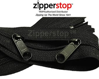 2pcs YKK Face to Face Handbag  Zipper- 100% Made in USA-with 2  Long Pull Silders