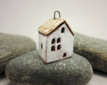 RESERVED for Lisat50 RESERVED Terracotta Cottage Pendant...White Walls / Eggshell Roof