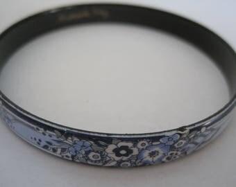 Vintage Michaela Frey Enamel Bangle Bracelet