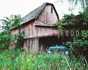 MEMORIES 8X12 Abandoned Michigan Barn Vintage Truck Fine Art Print