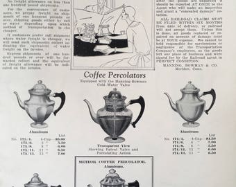 1920's Manning Bowman & Company Household Appointments Catalogue 83R Coffee Percolators plus more!
