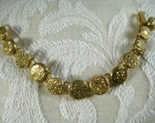 GOLD GILT BUTTON Bracelet