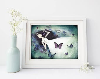 50% Off - Summer SALE - The Sleeping Beauty - open edition print