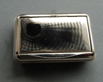 Vintage German Silver Box, Tobacco Tin, Stash Box, Handy Pocket Container, Brand-new Made in Germany by Hansaware G15