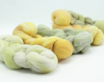 5oz Cheviot Combed Top Set - Yellow and Grey
