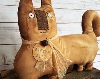 Tinkerbell The Primitive Folk Art Farmhouse Kitty Cat Doll