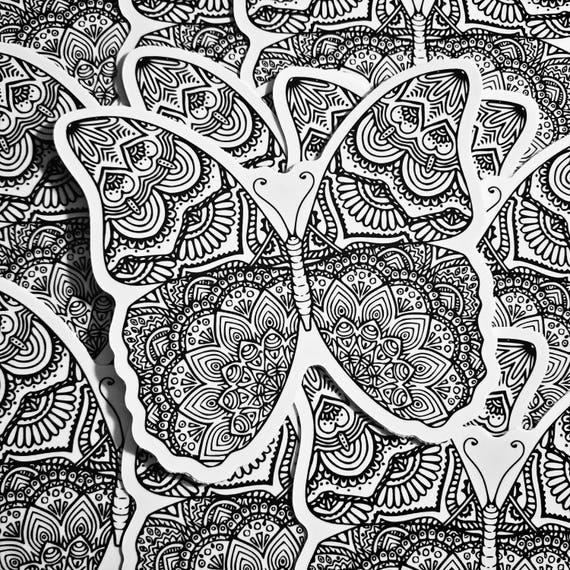 Weatherproof Vinyl Sticker - Butterfly - Unique, Fun Sticker for Car, Luggage, Laptop - Artstudio54