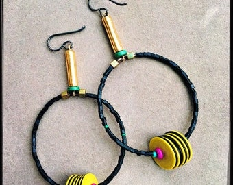 Togo Record Earrings