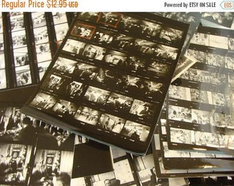 ON SALE 6 Vintage 1950s News Journalist Black and White Photo Reels lot