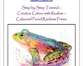 Step by Step Tutorial - Creative Colour with Realism - Coloured Pencil Rainbow Prince