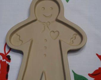 Vintage Brown Bag Cookie Mold  Gingerbread Man  1992 Vintage Gingerbread man  Cookie Mold  Baking Mold  Brown Bag Mold