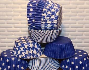 NEW - Mini Blue Cupcake Liner Party Pak (Qty 40) Mini Blue Cupcake Liners, Mini Blue Baking Cups, Mini Baking Cups, Mini Cupcake Liners