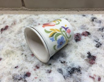 Fancy Porcelain Thimble by Avon