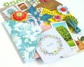 Botanical Theme Paper Ephemera Junk Journal Scrapbook Kit or for Bullet Bujo Travel Journals and Notebooks Smash Book Art Project Life
