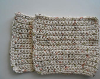 Crochet Cotton Dish Clothes Set of Two Oasis