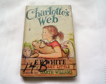 1952 Charlotte's Web Book Club Edition EB White Harper And Row Hardcover