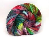 "Acoustic Sock Yarn - ""Festive Flannel"" - Handpainted Superwash Merino - 400 Yards"