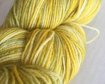 DESTASH:  Unlabeled Hand-Dyed Variegated Wool Sock Yarn