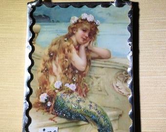 Mermaid Plaque Soldered Flat Wall Ornament
