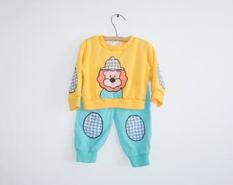 Vintage Yellow Lion Outfit