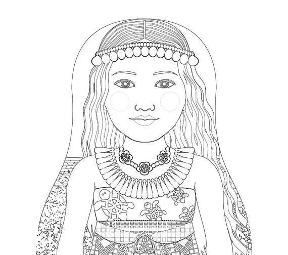 Marshallese Matryoshka Coloring Sheet Printable file