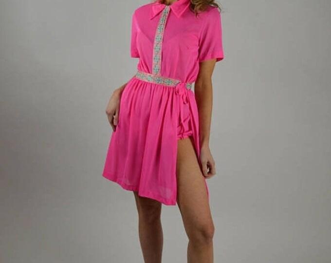 sale Vintage Romper, 50s Romper, Pink Romper, Jack LaLanne, Exercise Suit, 50s Exercise, Grecian Costume, Vintage Exercise Outfit, Roman Cos