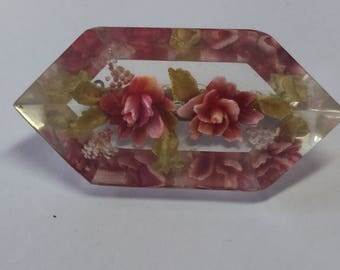 Vintage Lucite Brooch Pin