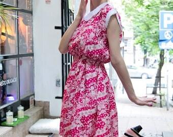 Unique Pink Cute Vintage Dress M