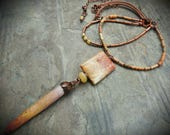 Summer Color Sea Urchin Spike Pendant with Copper