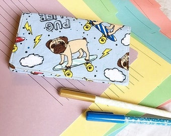 Pugs on Skateboards / Pug Life Checkbook Cover