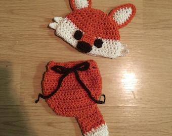 Crochet Baby Fox Newborn Photo Set