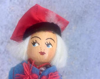 40% OFF CLEARANCE SALE The Vintage Scandinavian Wood Face Doll