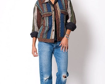 40% OFF The Vintage Navajo Aztec Blanket Bolero Jacket