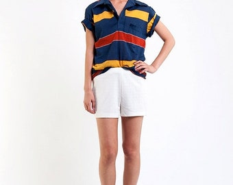 40% OFF The Vintage 50/50 OP Striped Collared TShirt
