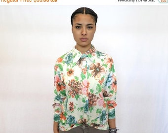 40% OFF The Pastel Floral Button Up Shirt