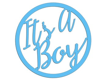 Unfinished Wood It's A Boy 17.5 inch tall Anniversary New Baby Sign