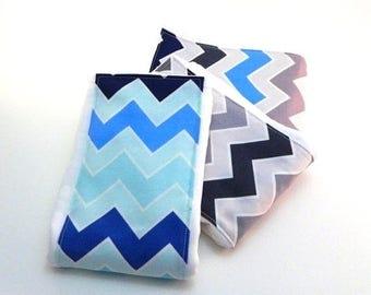 SALE Boy Burp Cloths - Shaded Chevron- Set of 3 - Your Choice // Cotton Diaper Burp Cloths