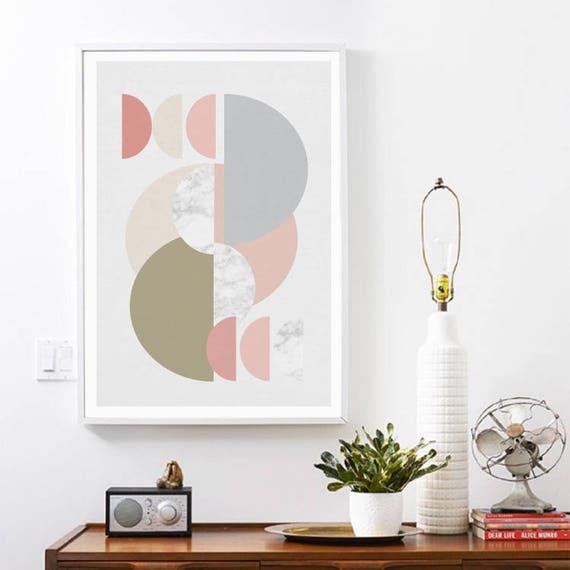 MULTIPLICITÉ // Affiche Mid Century, 24x36, art minimaliste, formes géométrique, abstract, art