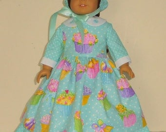 Colonial Easter Dress designed for American Girl Felicity,Elizabeth or Kirsten 3 pc.. No. 706