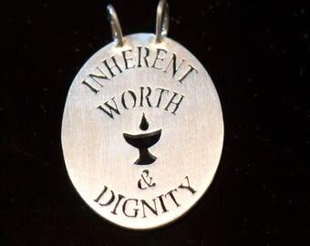 Unitarian Universalist (UU) First Principle Pendant