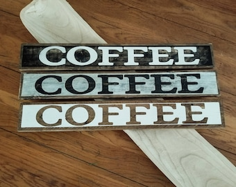Wooden COFFEE sign, rustic COFFEE sign, Coffee bar decor, Kitchen coffee sign, Coffee shop sign, COFFEE station idea, Rustic Farmhouse style