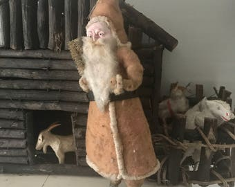 Antique Santa, large candy container, large German, early.