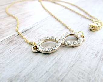 Dainty Infinty Necklace - Gold Infinity Necklace - Womens Infinity Necklace - Womens Layering Necklace - Infinity Necklace - Eternal Love