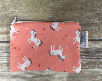 Reusable Snack Bag, Reusable Zipper Bag, Reusable Sandwich Bag, Zipper Pouch, Reusable, Unicorn Snack Bag, Lunch Bag, Reusable Bag