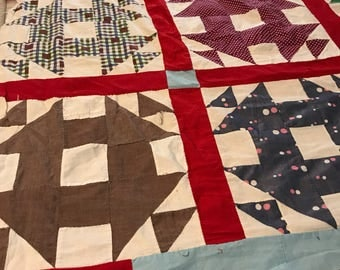 Vintage Quilt Top Churn Dash