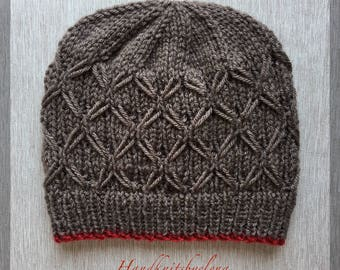 "Instant Download #231 Knitting Pattern Hat ""Diana"""
