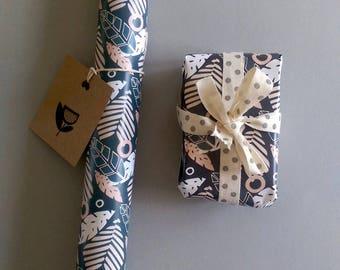 Tropical Print Gift Wrap,