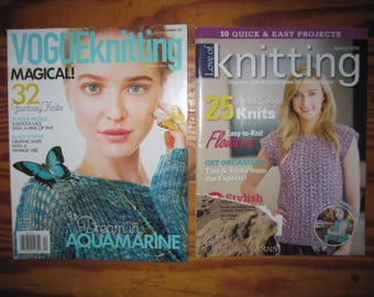 Vogue Knitting and Love of Knitting Magazines Free US Shipping!