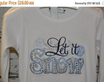 ON SALE Let It Snow Christmas Shirt or Bodysuit with  Bling Sparkle