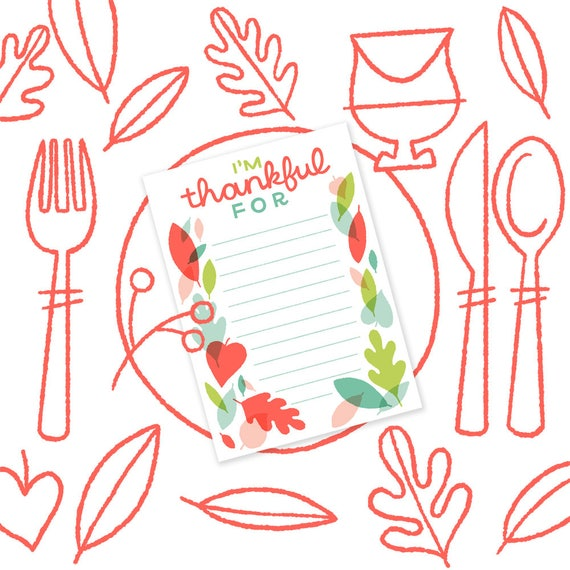 Thankful Card, Instant Download